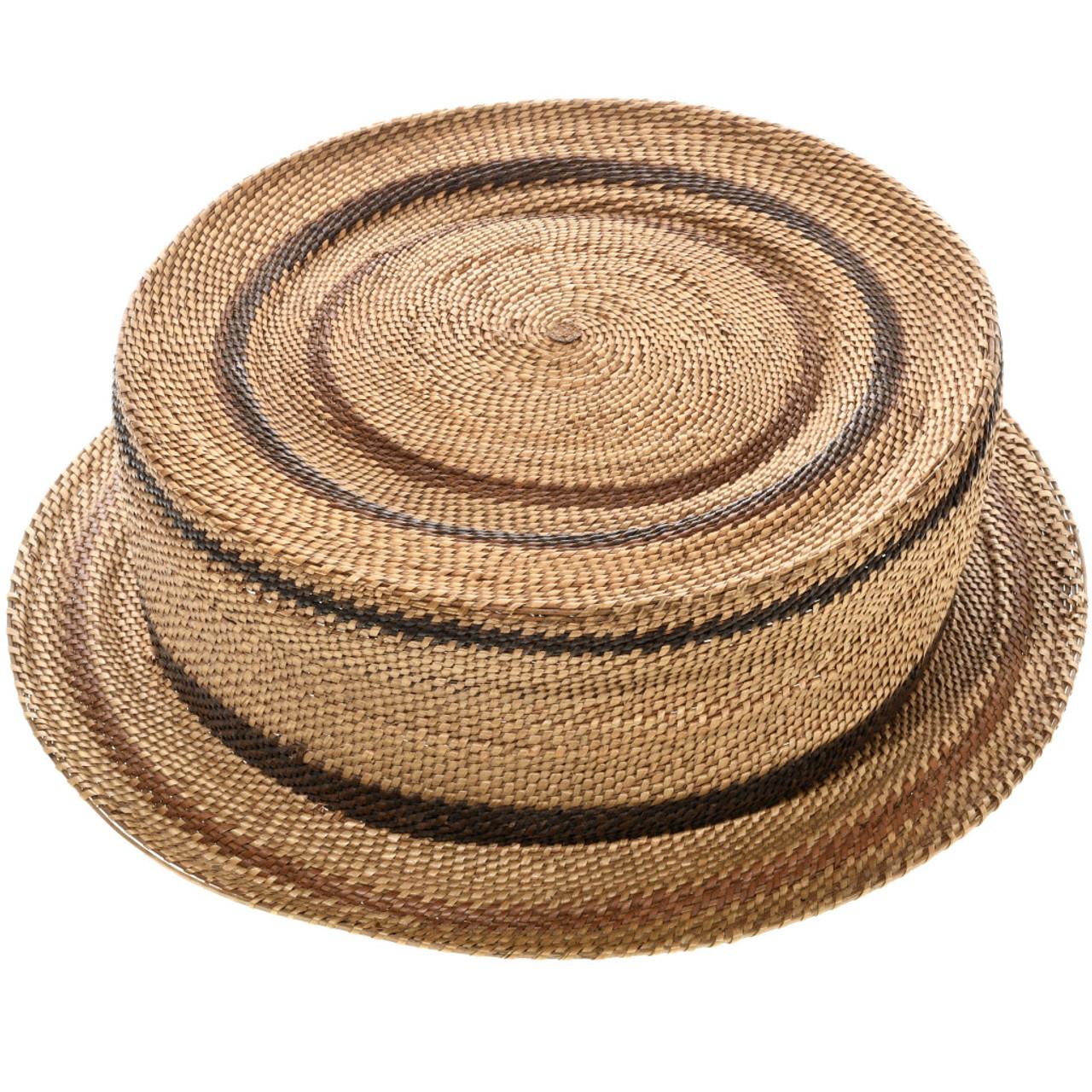 Antique Hupa Tribe Basket Hat 32901 2f2d93b5599