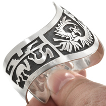Overlaid Sterling storyteller Cuff 24550