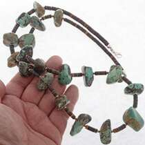 Navajo Turquoise Nugget Necklace 25618