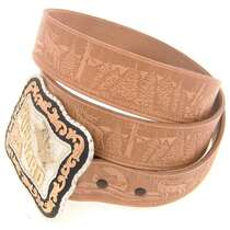 Custom Sized Natural Leather Belt 22350