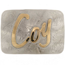 Custom Name Initial Belt Buckle 25483