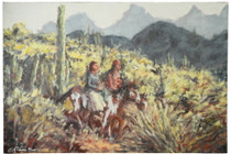 Indian Honeymoon Trail Canvas Giclée 16609