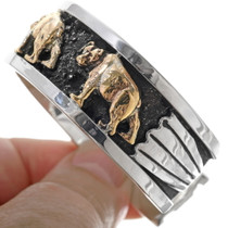 Silver Gold Southwest Bear Cuff 25906