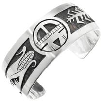 Overlaid Silver Sunface Bracelet 10553