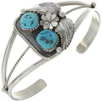 Turquoise Silver Ladies Cuff Bracelet 22099