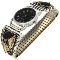 Gold Silver Navajo Mens Watch 24503