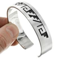 Handmade Western Silver Cuff Bracelet 23595