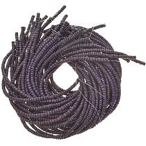 6mm Purple Wooden Beads 16 inch Strand