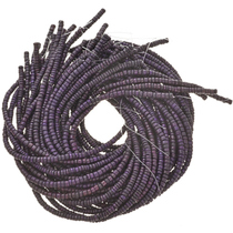 6mm Purple Wooden Beads 16 inch Strand