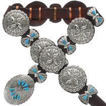Navajo Turquoise Concho Belt 14015
