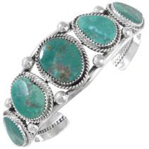Navajo Turquoise Silver Cuff Bracelet 23239