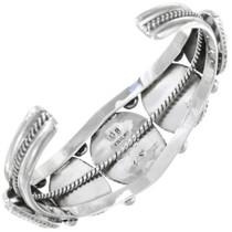 Navajo Sterling Traditional Cuff Bracelet Artist Signed 23239