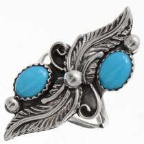 Turquoise Pointer Navajo Ring 25848