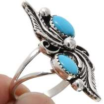 Turquoise Silver Ladies Ring 25848
