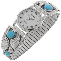 Navajo Turquoise Mens Watch Tips 22793