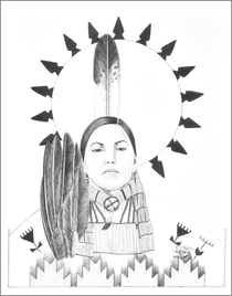 Limited Edition Native American Print by Native American Artist Frankie C. Nez 1