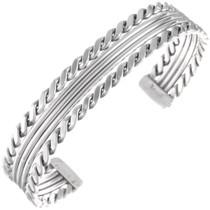 Navajo Sterling Cuff Bracelet 24632