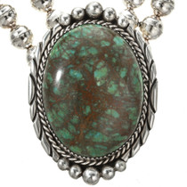 Turquoise Sterling Navajo Necklace 16004