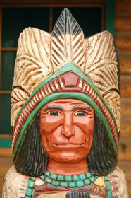 Wooden Cigar Store Indian 33956