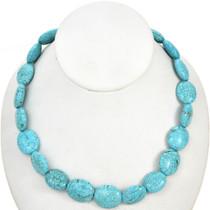 Spiderweb Turquoise Magnesite Beads 30877