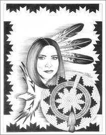 Native American Maiden Art Print 17215