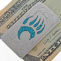Southwest Engraved Silver Money Clip 21029
