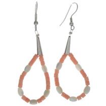 Coral Heishi Earrings