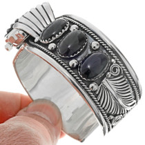 Onyx Sterling Mens Ladies Watch Cuff 23051