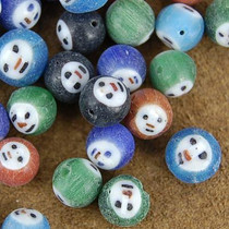 1/4 Pound of 8mm Painted Glass Ghost Beads