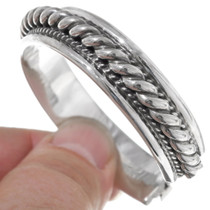 Heavy Twist Wire Silver Indian Bracelet 25934