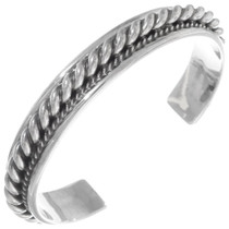 Navajo All Sterling Cuff Bracelet 25934