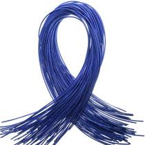 Bolo Tie Cord Blue Metallic Vinyl SF3717