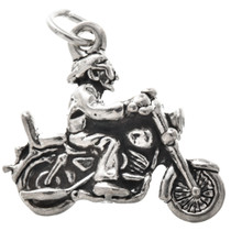 Sterling Silver Motorcycle Charm 34616