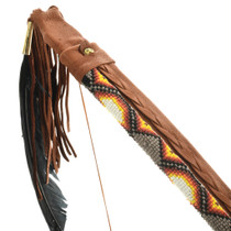 Beaded Leather Wrapped Bow and Arrows Set 32994