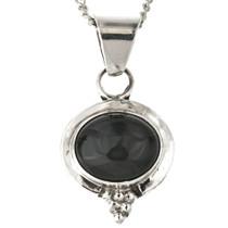Black Onyx Charm Pendant with Chain 13474
