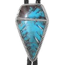 Kingman Turquoise Arrowhead Bolo Tie 22849