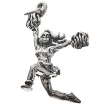 Sterling Silver Cheerleader Charm 35445