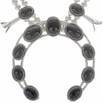 Black Onyx Squash Blossom Necklace 26887