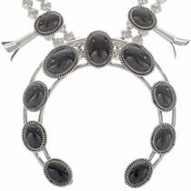 Black Onyx Squash Blossom Necklace 26887