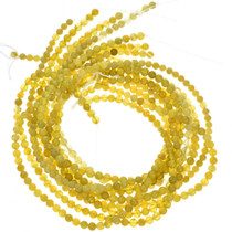 6mm Lemon Serpentine Beads 16 inch Long Strand