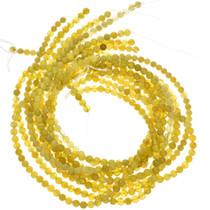 6mm Lemon Serpentine Beads 16 inch Long Strand
