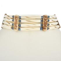 Navajo Bead Hairpipe Bone Choker 24066