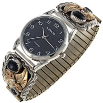 Navajo Gold Onyx Watch 24087