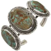 Three Stone Turquoise Navajo Cuff 30654