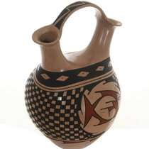 Polychrome Fish Vase 26699