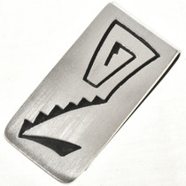 Overlaid Silver Navajo Money Clip 10139