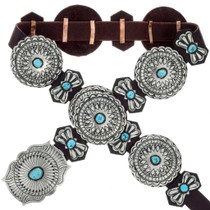 Sleeping Beauty Turquoise Concho Belt 24356