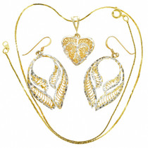 Gold Silver Pendant Set 22777