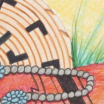 Original Native American Still Life Sketch 22472