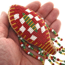 Hearty Handmade Multi Color Seed Beaded Medallion Ponytail Hair Band Wholesale Lot Of 9 Fashion Jewelry